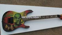 KH2 M-II Mummy Karloff Tlmummy Guitar China electric guitars Green black