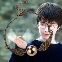harry potter quidditch golden snitch pocket bracelet wings vintage retro tone for men and women wholesale