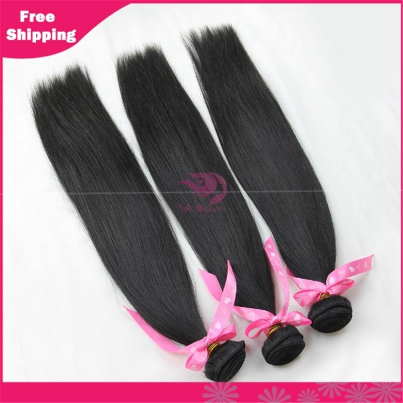 6A Indian Virgin Hair Straight 4pcs bounbles  Indian Virgin Hair Extension Indian 100% Human Hair Weaves Free Shipping(China (Mainland))