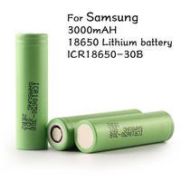 2pcs/lot Original 18650 3.7V 3000mAh For Samsung batteries rechargeable Battery ICR18650-30B safe batteries Industrial use