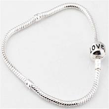 Fashion silver   sterling silver jewelry Authentic 925 Sterling Silver Snake Bracelet/fit pand0ra European charm bracelet