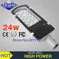 New arrival !High brightness LED Street Lights 24W LED STREET LIGHT 3120LM patio lights free shipping