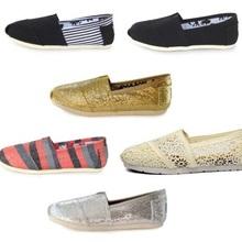 Classic brand espadrilles unisex flat shoes women and men canvas flats strip paillette colour lazy loafers sneakers size 35-45()