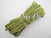 10yds 5mm Olive Decorative Twisted Satin Polyester Twine Cord /Rope NCP3G