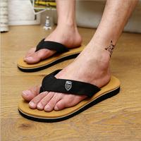 New 2015 Summer Brand Fashion Man's Flip Flops Canvas Sandals Casual Beach Sandal Summer Shoes