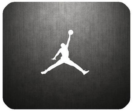 Sliver Jordan Logo Art 100% New Brand FREE SHIPPING Non-Slip Rubber Modern Customized Cool Beautiful Rectangle Mouse Pad(China (Mainland))