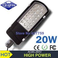 free shipping 4X 20W street light AC85-265V DC24V/12V 2100lm high power led outdoor street lamps