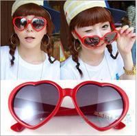 Heart-shaped Frame Sunglasses Cute Personality Sunglasses Women Sunglasses Free Shipping