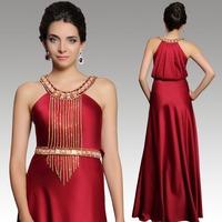 2015 New arrival Dorisqueen free shipping sexy beaded elegant 31261 wine red  floor length sleeveless long evening dresses 2015