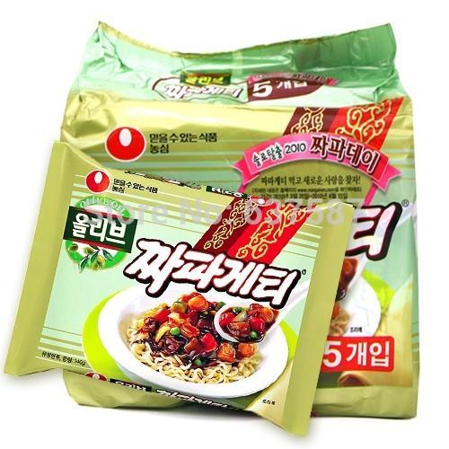Instant Black Bean Noodles Korean Instant Noodle Black