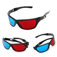 2015 Universal Women Man 3D Glasses TV Movie Video Dimensional Anaglyph Framed 3D Vision Glasses Red Blue 3D Plastic Glasses FLM