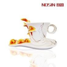 Alta calidad de esmalte de porcelana Red calla coffee tazas amor navidad regalos de su su a