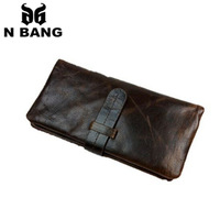 2015 new design genuine luxury leather men wallets vintage style and fashion popular of men and best gifts for men good quality