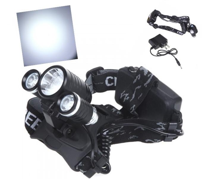 Налобный фонарь OEM Cree XM L T6 4000Lm 4 + 18650 K3000 налобный фонарь oem 160lm 3 ll029