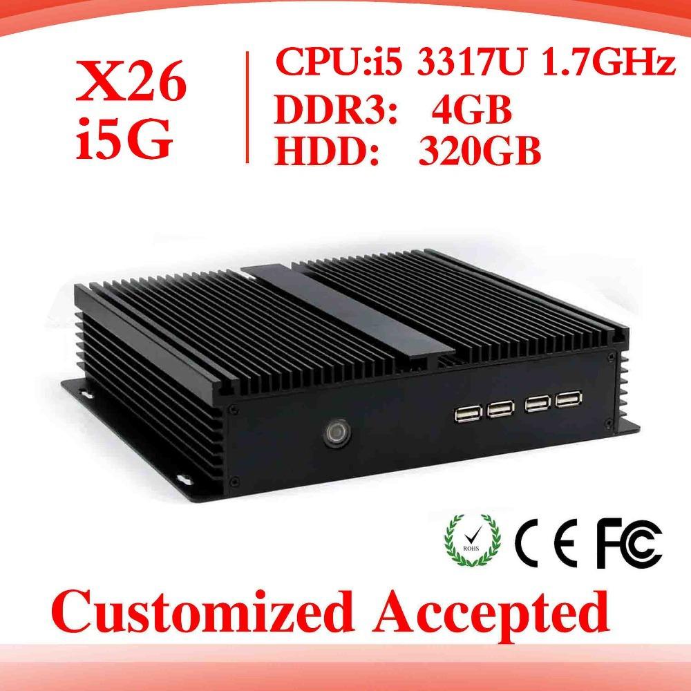 Low power low heat super mini desktop Intel i5 3317u PC-station mini thin client virtual computer thin client without fan(China (Mainland))