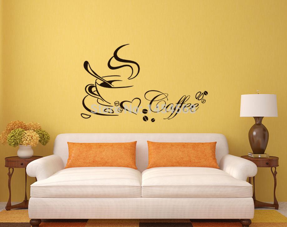 Online kopen wholesale kopje koffie sticker uit china kopje koffie sticker groothandel - Nieuwe ontwerpmuur ...