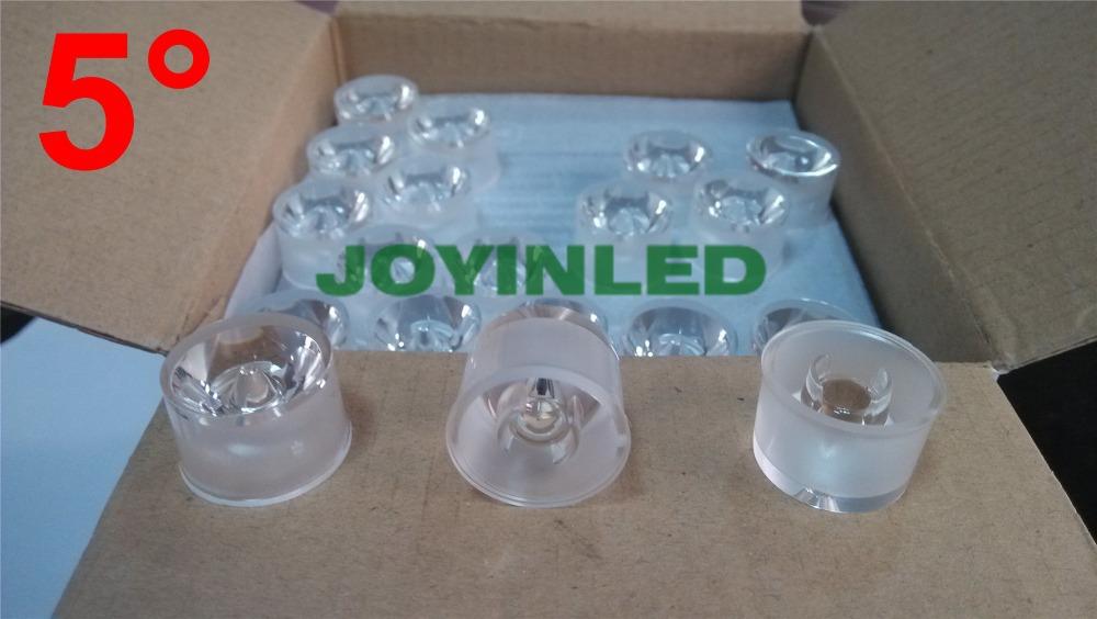 Free shipping 100pcs Diameter 20mm waterproof Holder led lense 5 Degree(China (Mainland))
