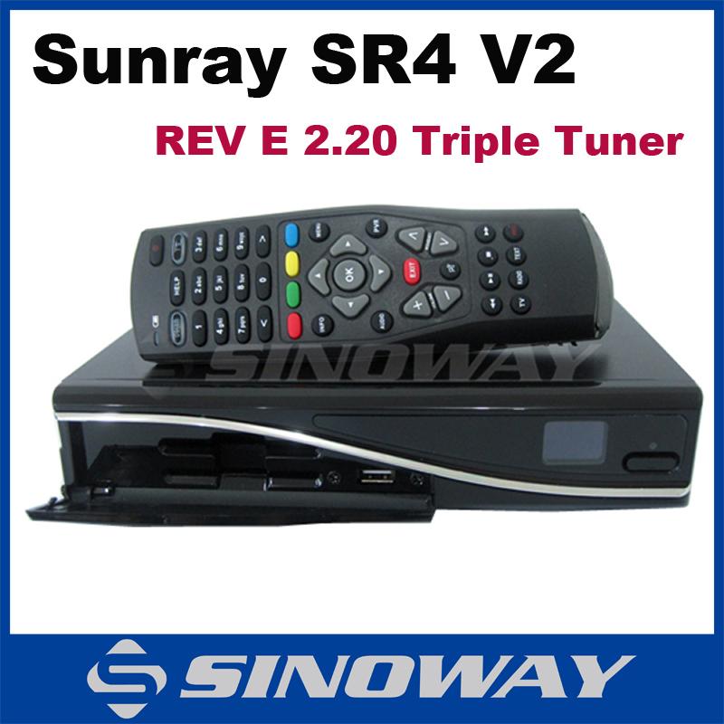 Satellite receiver Sunray sr4 V2 Triple tuner Sim2.20 sr4 v2 Rev E Enigma2 Linux OS full hd receiver Enigma2 System(China (Mainland))