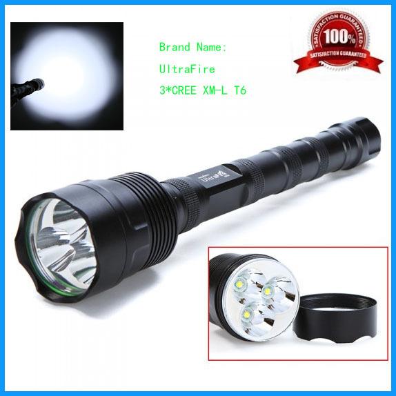 Фонарик UltraFire 7W 3 * T6 5000 5 18650 5301B-3T6 mojo booster