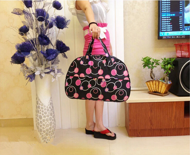 2015 New Fashion Waterproof Oxford Women Colorful Travel Bag Large Hand Luggage Bags G094-C(China (Mainland))