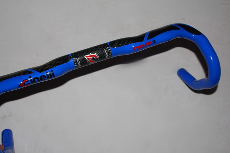 2014 latest CINELLI ultralight full carbon fiber road bicycle handlebar car racing handlebar 400 420 440mm