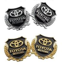 car styling Toyota corolla avensis camry RAV4 metal Badge sticker modified standard column car accessories(China (Mainland))