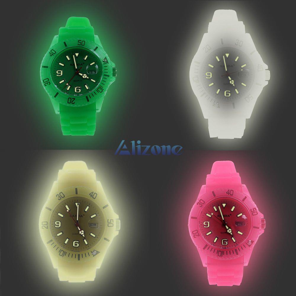 New Fashion Boys Girls Women Men Watches Glow in Dark Silicone Jelly Quartz Wrist Watch Wristwatches BLDL #52634(China (Mainland))