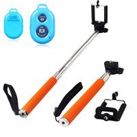 Hot Sale Extendable Handheld Pau De Palo Selfie Universal Stick To Self Monopod For Iphone Gopro Remote Control Shutter Selfi