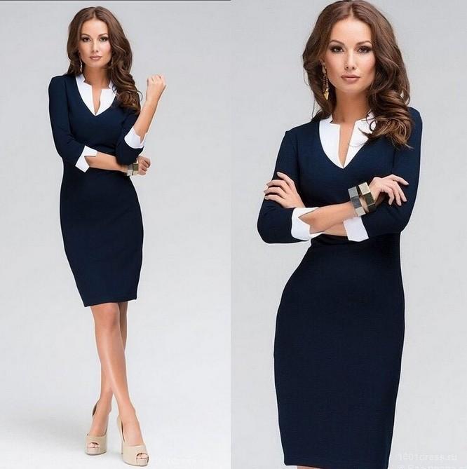 женское-платье-work-dress-2015-women-dress