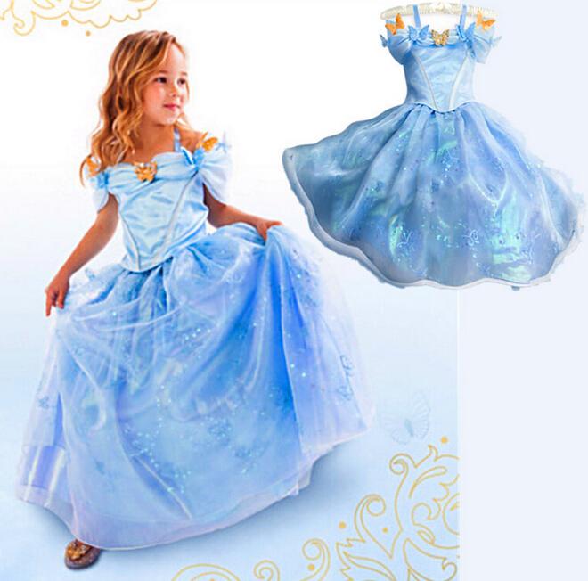 Compra sleeveless cinderella dresses for girls online al por mayor ...