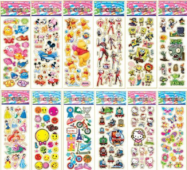10pcs/Lot Cartoon Animal Kid Stickers Sheets Toy School Teacher Reward Stickers Boys And Girls Adesivo Stickers Birthday Gif(China (Mainland))