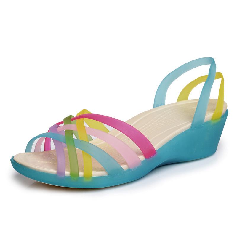 2015 Summer Hot Promotion Women Sandals Woman Wedges Slip-on open toe comfortable rubber sandalias femininas Free shipping(China (Mainland))