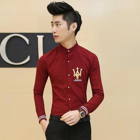 Мужская повседневная рубашка China's famous brand 2015  M-3XL рубашка almost famous рубашка