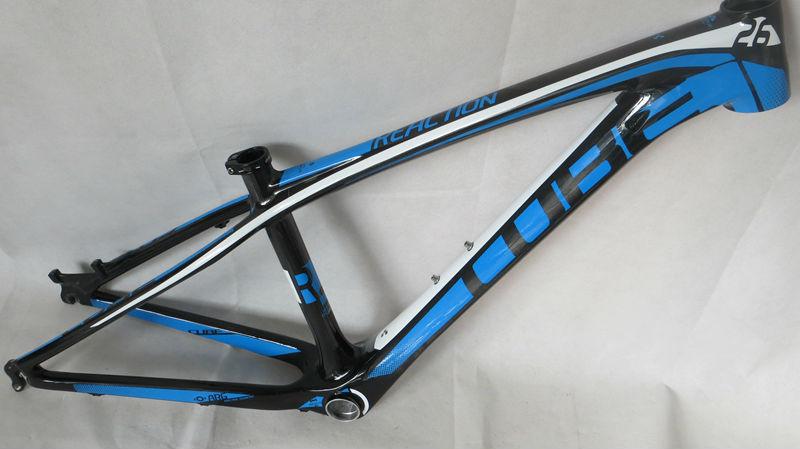 Cheap MTB Bicycle Frame 14/16'' cube full carbon fiber mountain bike frame 26er , Fast shipment(China (Mainland))