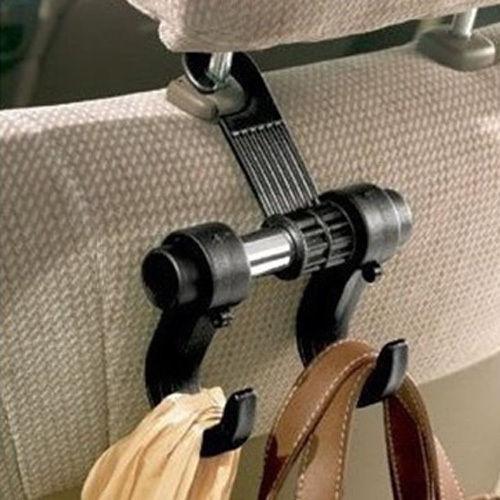 1 PCS Utility Convenient Double Vehicle Hangers Auto Car Seat Headrest Bag Hook Bag Organizer Holder Hook(China (Mainland))