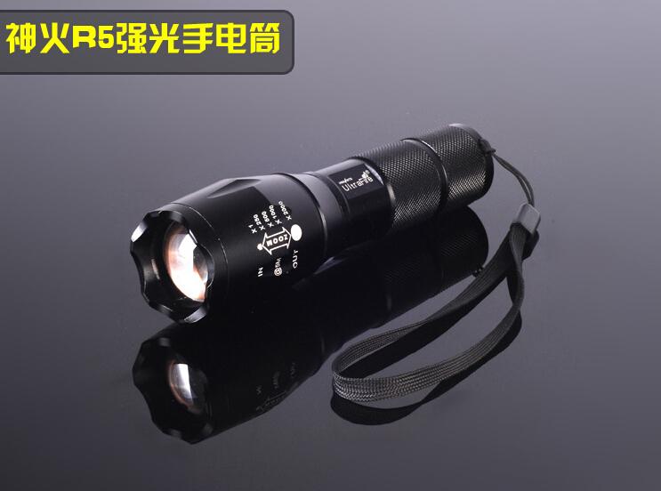 Hand torch Flash Light Fishing Lighting 18650 battery Wholesale LED Flashlight Electric Torch Hand Lamp Camping Light(China (Mainland))