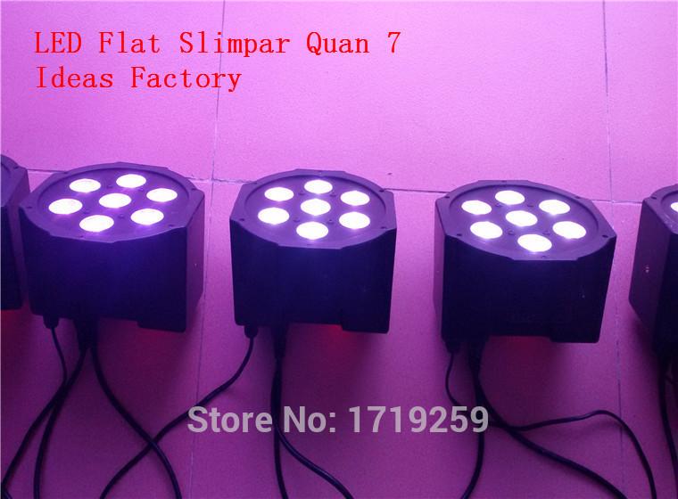 10pcs/lot RGB DMX Stage Lights Led Flat Par High Power Light with Professional for Party KTV Disco DJ(China (Mainland))