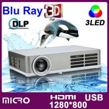 2015 New Blu Ray HDMI Support All 3D DLP 1200ANSI WXGA DLP LED HD 720P 1080P 1280x800 Pico Micro 3D Video Pocket Mini Projector(China (Mainland))