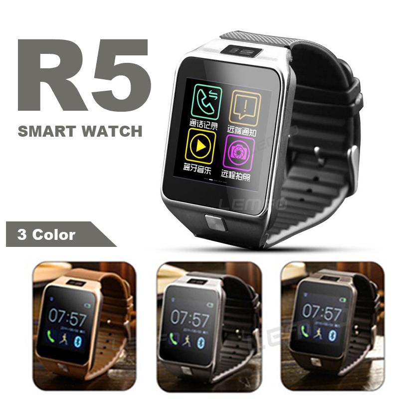 Bluetooth Smartwatch R5 Android IOS Samsung S5 4 Sony HTC Huawei bluetooth smart watch uc08 smartwatch sim card reloj inteligente support hebrew for iphone samsung huawei xiaomi android ios