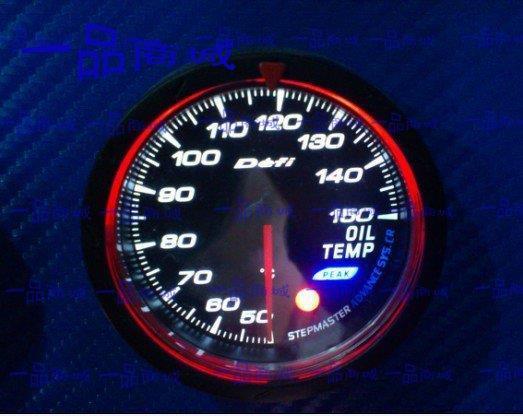 Defi CR avanço medidor Auto Oil Temp medidor branco ou Red Light 60 MM cara em preto(China (Mainland))