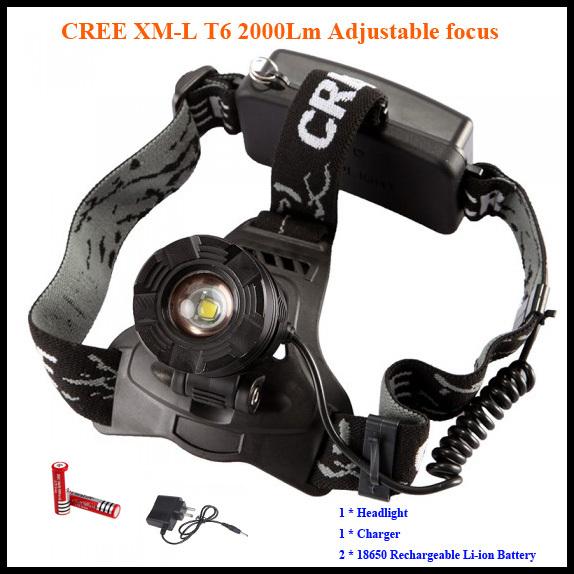 Налобный фонарь OEM XML T6 2000 3 18650  K02