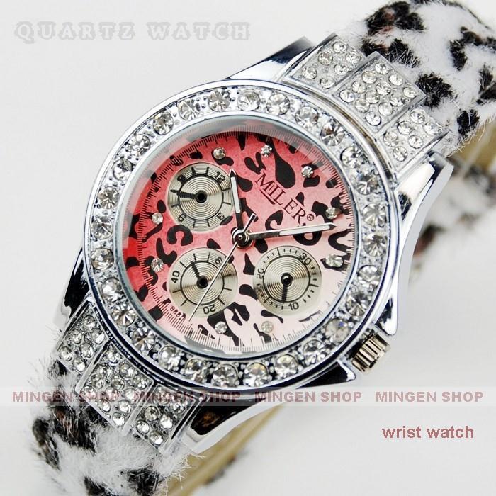 Joyce shop Gold Silver Fashion Leopard Series Gemstone Jewelry Dress Analog Quartz Women s Watches Girl