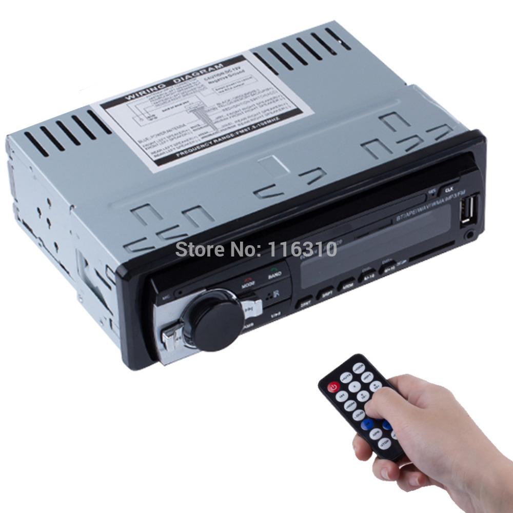 New 12V Bluetooth Car Stereo FM Radio MP3 Audio Player 5V Charger USB SD AUX APE
