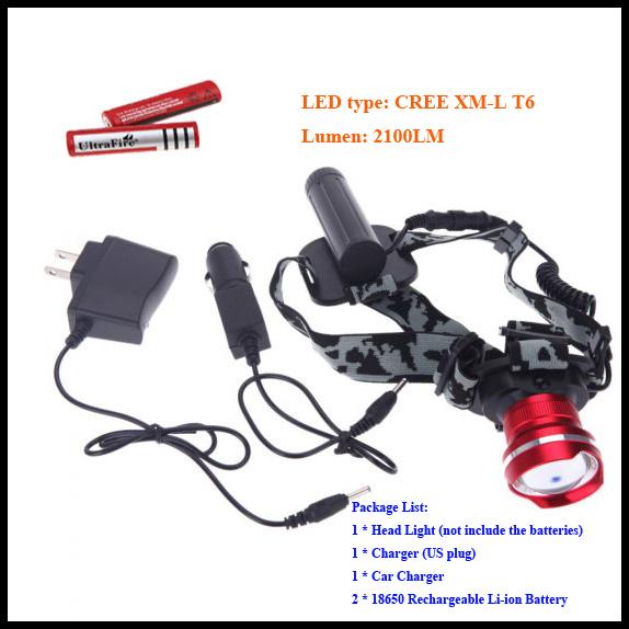 Налобный фонарь OEM 2300LM CREE xm/l T6 Waterprrof 32-T6