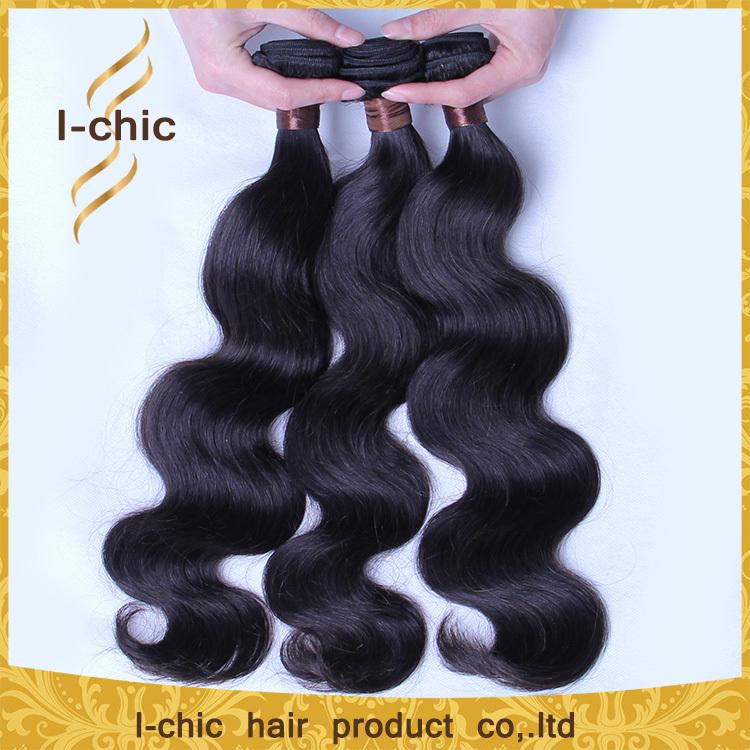 6A Grade Malaysian Virgin Hair body wave 3Pcs/Lot natural black Malaysian Human Hair body wave Malaysian Hair Bundles extension(China (Mainland))