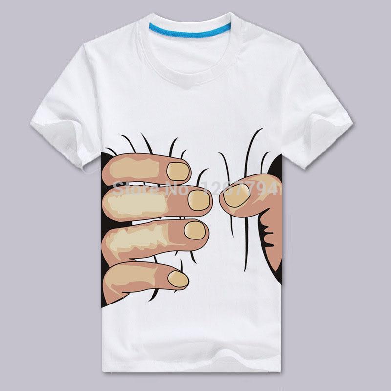 2015 summer Hot Sale Cool Fashion Men's O-neck Short Sleeve Men Shirts 3D Big Hand T Shirt(China (Mainland))