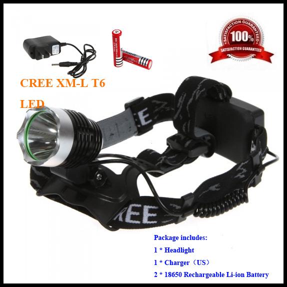 Налобный фонарь OEM 2000 CREE xm/l T6 18650 5000mAh A1