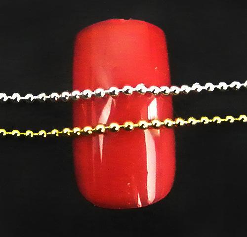 1M Nail art decorations 1.2-1.5MM gold silver Metal Glitter Striping Ball Beads Chain nail art for women gold nail art chain(China (Mainland))