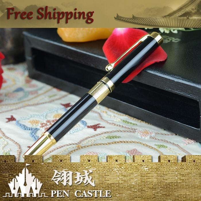 HERO 760EP Black Golden Roller Ball Pen Good Executive Gift Free Shipping(China (Mainland))