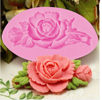 New Cooking Tools Cake Tools 3D Rose Silicone Fondant Cake Chocolate Mold Craft Decorating Tools Mould(China (Mainland))
